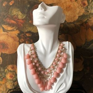 🔥 Pink Lucite Statement Necklace